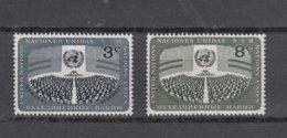 NATIONS  UNIES  NEW-YORK  1956      N° 44 à 47     NEUFS**   CATALOGUE YVERT&TELLIER - New-York - Siège De L'ONU