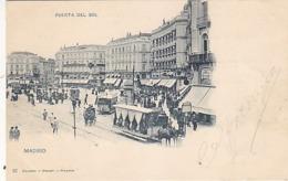 Madrid - Puerta Del Sol Con Tram Caballo - 1903        (A-136-190513) - Madrid