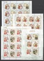 UKRAINE 2002 Mi 542Aklb-547Aklb+Block 38(542С-547С) National Costumes / Trachten Der Regionen **/MNH - Costumes
