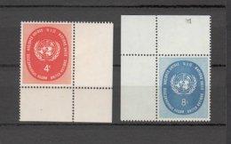 NATIONS  UNIES  NEW-YORK  1958      N° 60-61     NEUFS**   CATALOGUE YVERT&TELLIER - New-York - Siège De L'ONU