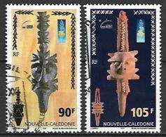 NOUVELLE  CALEDONIE    -   2000 .  Y&T N° 823 / 824 Oblitérés.     Têtes De Monnaies. - Nueva Caledonia
