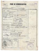 TESTA MARCEL ALBERT CLASSE 1919 ALGER MUSTAPHA TRAIN FICHE DEMOBILISATION MILITAIRE - Documents