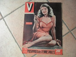 "V. MAGAZINE N° 245 "" DIANA DORS ""  JUIN 1949 - Bücher, Zeitschriften, Comics"