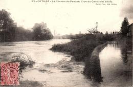 PYRÉNÉES ATLANTIQUES - ORTHEZ -  Le Chemin Du Pesqué ( Crue Du Gave De Mai 1905 ) - Orthez