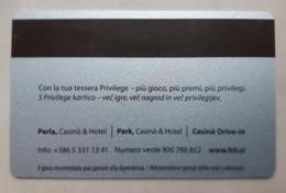 Hit Casinos SILVER Privilege Players Club Slovenia Casino Card Typ III. Italian Language On Back Side - Casino Cards