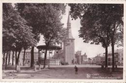 Ciney Grand'Place Et La Collégiale Circulée En 1941 - Ciney