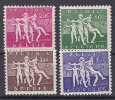 Belgium 1955 Mi#1028-1031 Mint Hinged - Bélgica