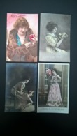 Lot De 35 Cartes Postales Fantaisie - Lot Van 35 Postkaarten Fantasie Femmes - Vrouwen - Ladies . Toutes Scannées . - Postkaarten
