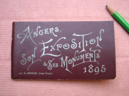 "ANGERS "" Son Exposition Et Ses Monuments "" Petit Guide 64 Pages 11X6,5 Cm E. Perrault Fils. - Angers"