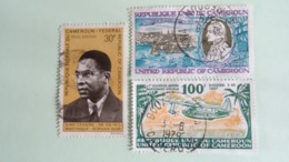 CAMEROUN-POSTE AERIENNE:AIMEE CESAIRE (1969) - 1er Courrier Aérien Marignane/Douala 1937- James COOK 1977-78 - Used - Cameroon (1960-...)