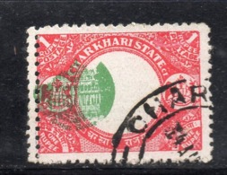 CI939 - STATI INDIANI , CHARKHARI :  1 Rupia  Usato Con Doppia Dentellatura A Sx E Centro Spostato. Bello - Charkhari