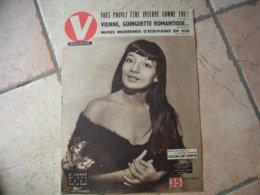 """V. MAGAZINE N° 374  """" JULIETTE GRECO """"  DECEMBRE 1951 - 1900 - 1949"""