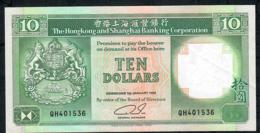 HONG-KONG P191c 10 DOLLARS 1.1.1992  #QH     AUNC. - Hong Kong