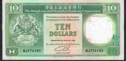 HONG-KONG P191c 10 DOLLARS 1.1.1992  #NJ     VF NO P.h. - Hong Kong