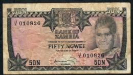 ZAMBIA P14 50 NGWEE  1973 #15/A    FINE Only 1 P.h. ! - Zambia
