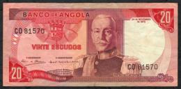 ANGOLA P99 20 ESCUDOS  24.11.1972 #CO    VF   NO P.h. - Angola