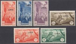 LIBIA, COLONIA ITALIANA - 1941 - Serie Completa Di 6 Valori Nuovi MNH: Yvert Posta Aerea 18/23, Come Da Immagine. - Libyen