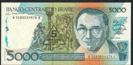 BRAZIL P217b 5 C.N./5000 CRUZADOS 1989 Signature 27 UNC. - Brasile