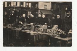 CARTE PHOTO - PARIS - RUE ALIGRE - MARCHE - STAND - 1905 - Other