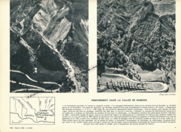 Photo (1962), La Forêt : BAREGES, Reboisement Dans La Vallée, Ravin De Pontis, Cauterets, Col Du Tourmalet, Pic Du Midi - Old Paper