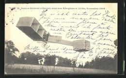 AK M. Santos-Dumont S`élevant Avec Son Aéroplane No 14, Novembre 1905, Flugzeug - Avions