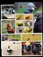 MALAWI, 2019, DOMESTIC BIRDS,6 M/S+S/S, MNH**NEW!! - Pájaros
