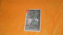 CARTE POSTALE ANCIENNE CIRCULEE DATE ?.../ PARLEZ POUR MOI...ENFANTS AVEC TREFLE..CACHET + TIMBRE - Scènes & Paysages
