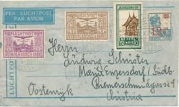 KLM - LP Nederlands-Indië Soerabaja 17.3.31 Via Batavia 18.3 31 En Wien 2.IV.31 Naar Oostenrijk - Luftpost