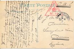 CV Bailleul – Ecole De Garçons Expédié Par Soldat Belge Via Fieldpost Anglais 26 AU 15 – Censure Anglaise - WW I