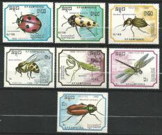 """Kampuchéa YT 830 à 836 """" Insectes """" 1988 Neuf** - Kampuchea"""