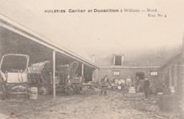CPA:WILLENS (59) CHARIOTS TONNEAUX OUVRIERS HUILERIES CARLIER ET DUCATILLON..ÉCRITE - Autres Communes