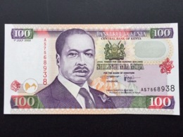 KENYA P37E 100 SHILINGI 1.7.2000 UNC - Kenia