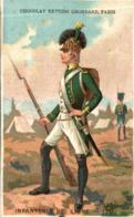 CHROMO CHOCOLAT GRONDARD INFANTERIE DE LIGNE 1791 - Altri
