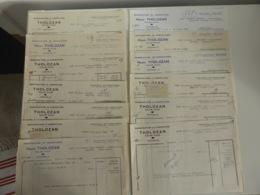 LOT DE FACTURES HENRI THOLOZAN - MANUFACTURE - CULAN - CHER - SAULIEU - BONNETERIE - ANNEES 60 - France