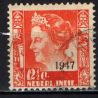 INDIA OLANDESE - 1947 - Queen Wilhelmina Overprinted 1947 - USATO - India Holandeses