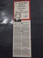 Discours De Mr Churchill 1942 Distribué Par La RAF - Documents Historiques
