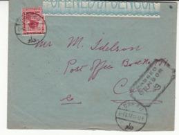 Guerre 1914/18   Enveloppe D'  EGYPTE       1916     T  Cachet Censure  2 Scan - Egypte