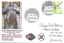 Carta Con Matasellos Turístico De Aranda De Duero A Gandia - España