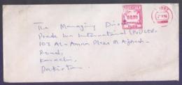 NIGERIA Postal History Cover Meter Franking Used 25.9.1996 - Nigeria (1961-...)
