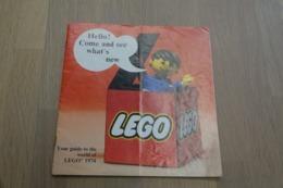 LEGO - CATALOG 1974 - Original Lego 1974 - Vintage - EN - Big - Kataloge
