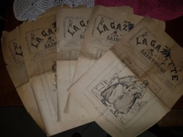 """5 Journaux 1897 """"LA GAZETTE De La SAINTONGE"""" - Journaux - Quotidiens"""