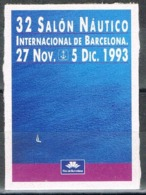Viñeta 32 Salon Nautico Internacional BARCELONA 1993. Label, Cinderella ** - Variedades & Curiosidades