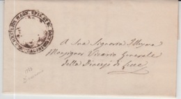ITALIA USED COVER 1863 LECCE - ...-1850 Préphilatélie