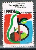 Viñeta LERIDA, Feria Frutera De San Miguel 1967. Label, Cinderella * - Variedades & Curiosidades