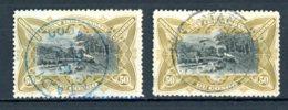 Etat Indépendant Du Congo   25 - 25a    Obl   ---   Les Deux Nuances... - Belgisch-Kongo