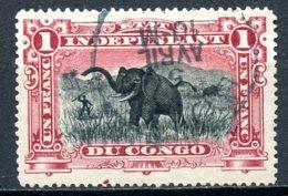 Etat Indépendant Du Congo   26b   Obl   ---  Carmin  --  Dent 16 - Belgisch-Kongo