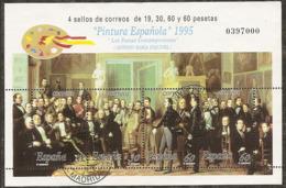 1995-ED. 3401 H.B.-PINTURA.ESQUIVEL-USADO- - Blocs & Hojas