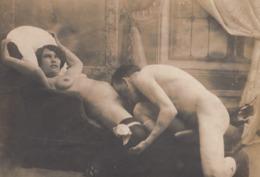 Original Vintage Photo Porn Nu On Thin Paper 10x14cm - Belleza Feminina (...-1920)