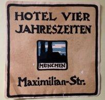 9230 -  Etiquette Hôtel Vier Jahreszeiten Maximilian Strasse München - Vieux Papiers