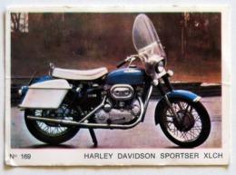 Carte (panini ?) N° 169 HARLEY DAVIDSON SPORSTER XLCH - Motor Bikes